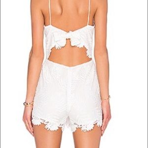 Lovers and Friends White Lace Romper